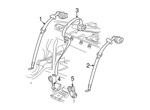 OEM 2003 Cadillac CTS Rear Seat Belts Parts