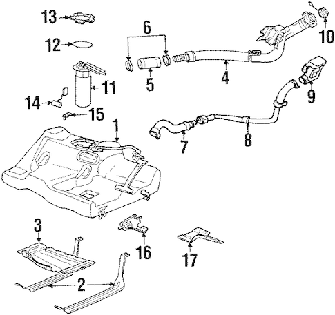 OEM FUEL SYSTEM COMPONENTS for 1999 Saturn SL1