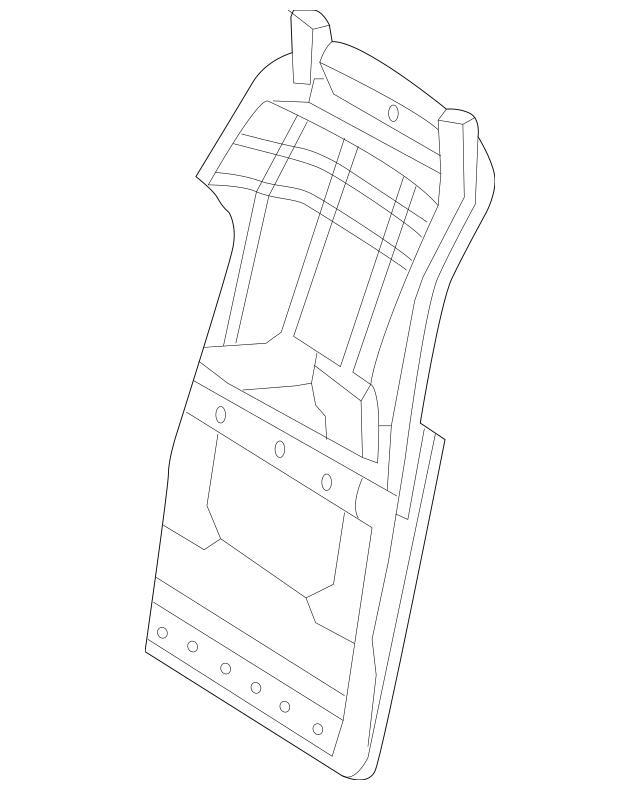 Genuine Mercedes-Benz Seat Back Panel 204-910-53-01-9F60