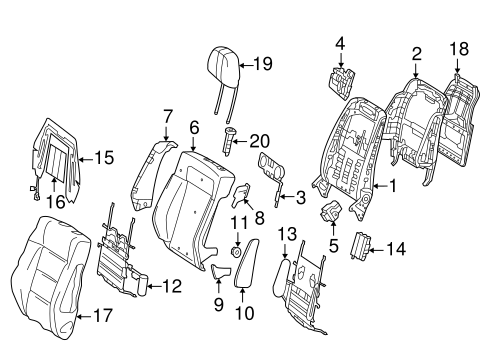Front Seat Components for 2006 Mercedes-Benz E 350