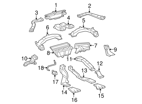 Genuine OEM Automatic Temperature Controls Parts for 2008