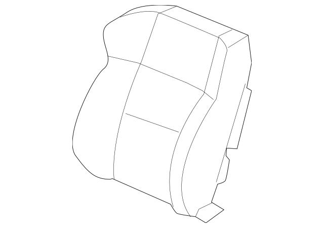 Genuine Cover Set, L Trim *NH167L* (Side Airbag) (Graphite