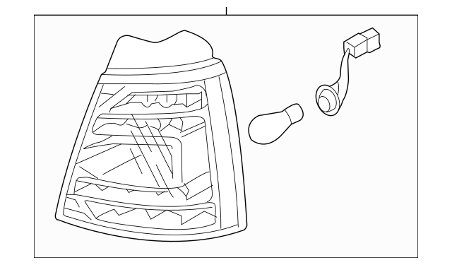 Genuine OEM Tail Lamp Assembly Part# 92401-1U100 Fits 2011