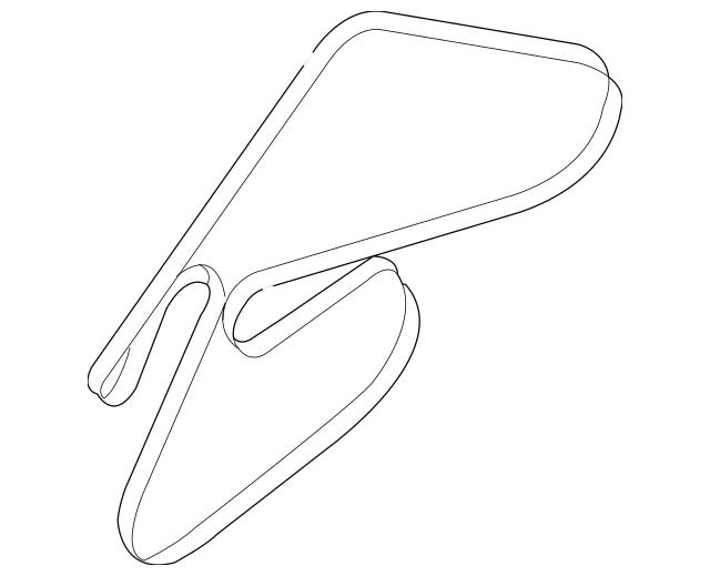 Genuine OEM Serpentine Belt Part# 25212-3C100 Fits 2006