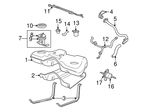 Fuel System Components for 2002 Ford Thunderbird