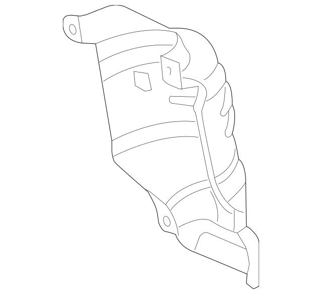 2009-2020 Acura Cover A, Rear Primary Converter 18122-R70