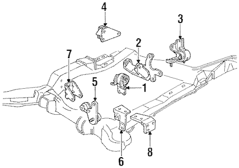 OEM ENGINE & TRANS MOUNTING for 1995 Buick LeSabre