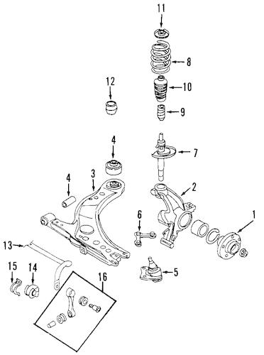 OEM VW Suspension Components for 2007 Volkswagen Beetle
