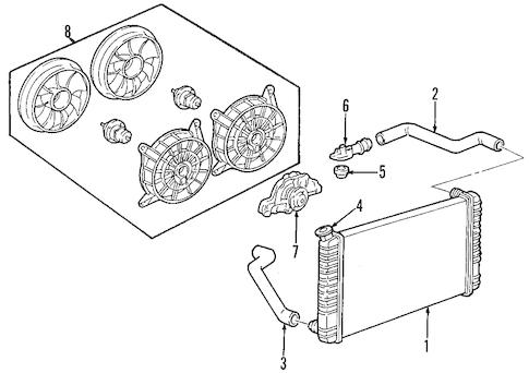 OEM 2005 Pontiac Bonneville Radiator & Components Parts