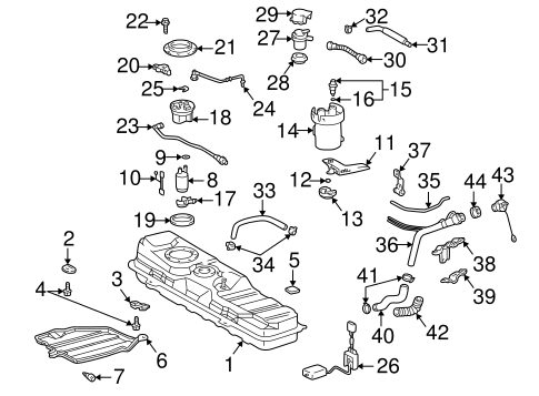 Fuel System Components for 2001 Toyota MR2 Spyder
