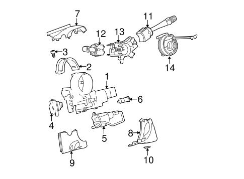 Steering Column Assembly for 2009 Chevrolet Cobalt