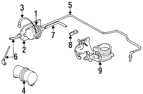 CRUISE CONTROL SYSTEM for 1994 Jeep Cherokee