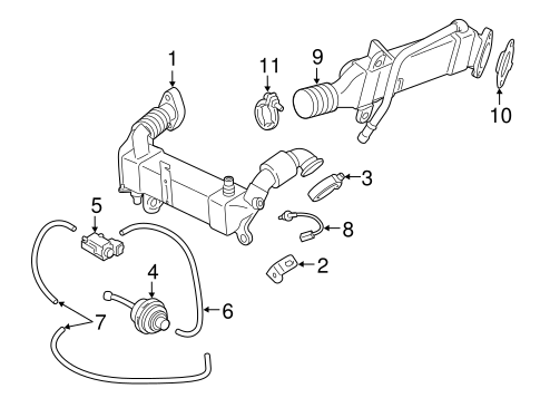 EMISSION COMPONENTS for 2011 BMW X5