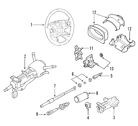 STEERING COLUMN for 2003 Cadillac CTS
