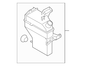 Genuine OEM Reservoir Tank Part# 98620-2K500 Fits 2012