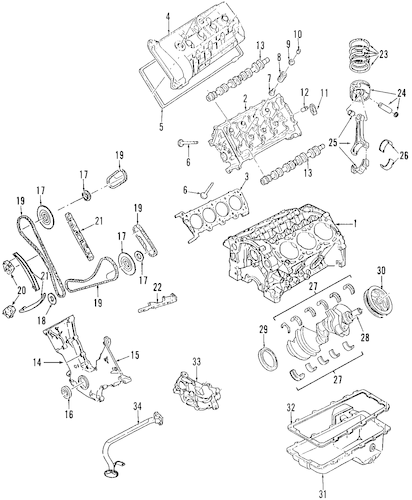 Engine for 2004 Lincoln Aviator