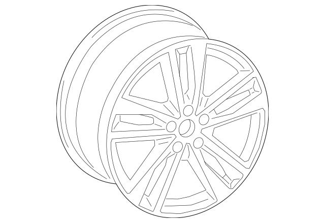 Genuine Wheel for 2019 Audi A6 Quattro Part# 4K0-601-025-L