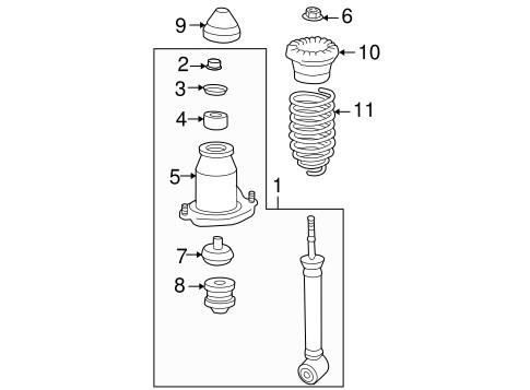 Genuine OEM Struts & Components Parts for 2006 Scion tC