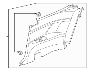 2016-2017 Honda CIVIC COUPE Lining Assembly, R Rear Side