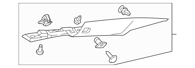 Honda Garnish Assembly, R Rear Pillar *NH900L* (Deep Black