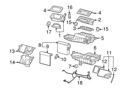 Evaporator & Heater Components for 2004 Chevrolet Monte