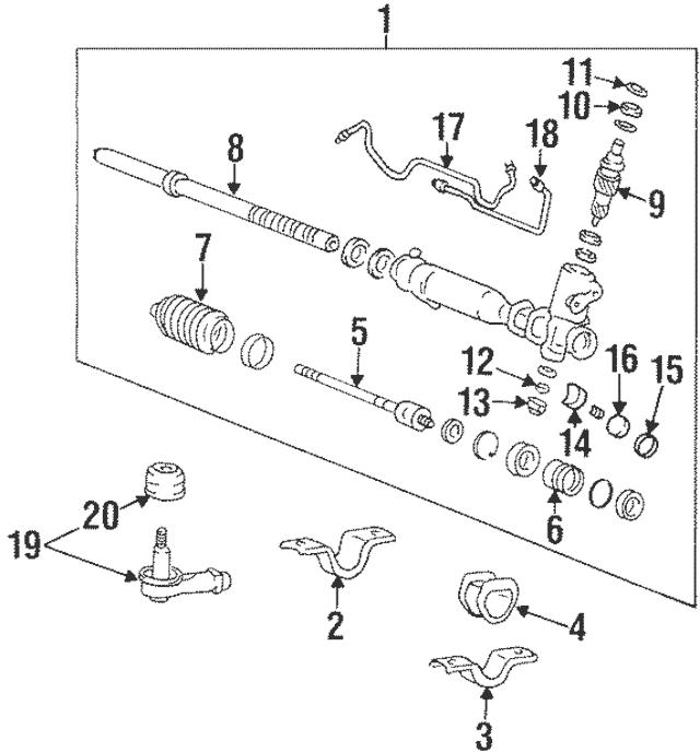 1997-2006 Hyundai Yoke Assembly Lock Nut 57718-33100
