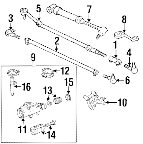 Steering Gear & Linkage for 1989 Jeep Cherokee Parts