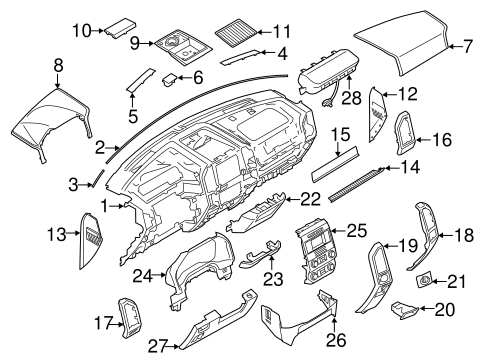 Instrument Panel Components for 2017 Ford F-150