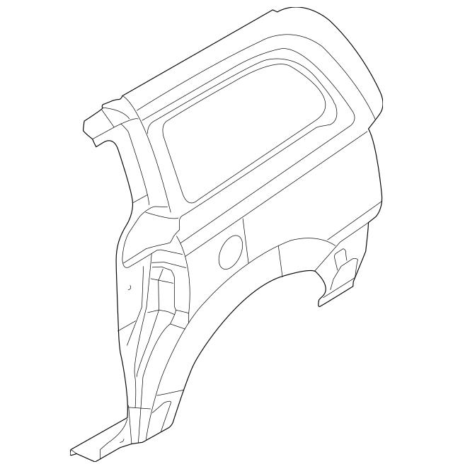 2009-2014 Volkswagen Routan Side Panel 7B0-809-843-A
