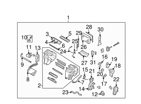 Evaporator & Heater Components for 2006 Subaru Impreza