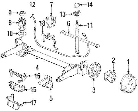 REAR SUSPENSION for 1990 Oldsmobile Silhouette
