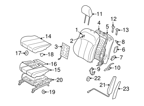 FRONT SEAT COMPONENTS for 2010 Subaru Legacy