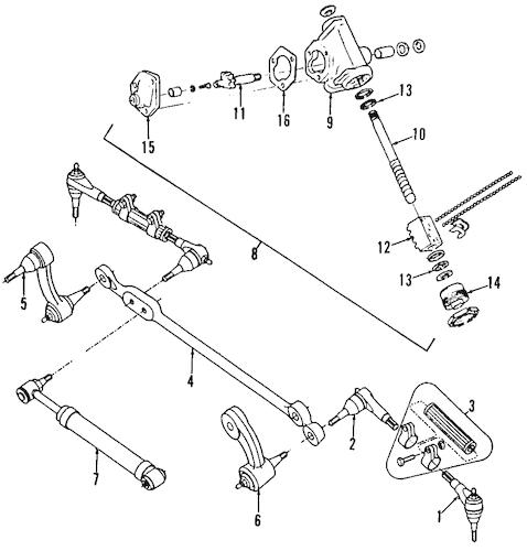 Steering Gear & Linkage 1987 Chevrolet G30 OEM