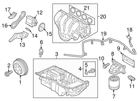 ENGINE PARTS for 2013 Ford Fusion