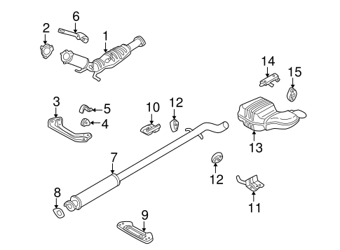 EXHAUST COMPONENTS for 2004 Volvo XC70