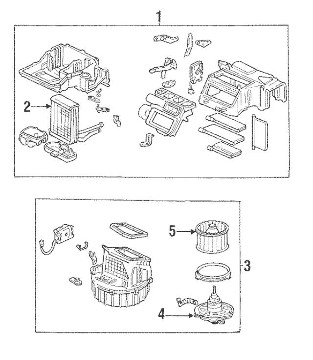 1989-1991 Honda CRX COUPE Heater Unit 79100-SH2-A02