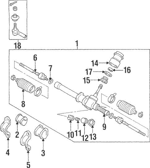 Steering Gear & Linkage for 1997 Mitsubishi Mirage