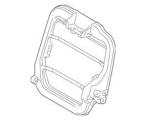 Genuine OEM 2011-2014 Ford Seat Back Frame AU5Z-96613A38-D