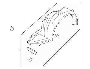 Subaru OEM Fender Liner Part# 59110fg040 Fits 2011-2014