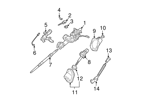 Genuine OEM Steering Column Assembly Parts for 2006 Toyota