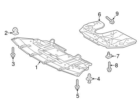 Genuine OEM Splash Shields Parts for 2019 Toyota