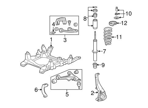 OEM SUSPENSION COMPONENTS for 2007 Cadillac STS