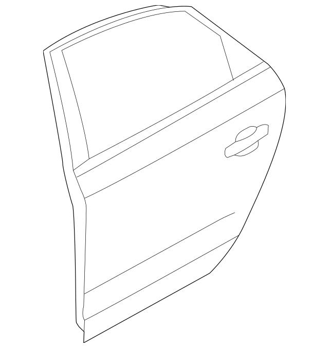 2012-2019 Volkswagen Passat Door Shell 561-833-055-C