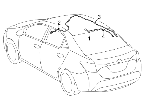 Genuine OEM Antenna & Radio Parts for 2014 Toyota Corolla