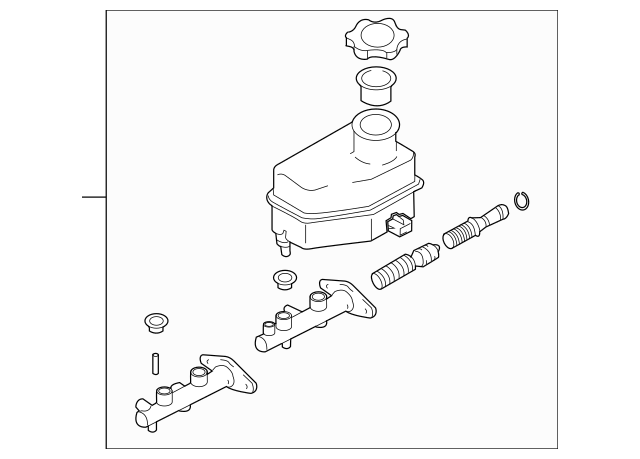 2005-2006 Hyundai Tiburon Master Cylinder 58510-2C800