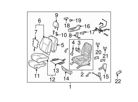 Passenger Seat Components for 2012 Toyota Highlander