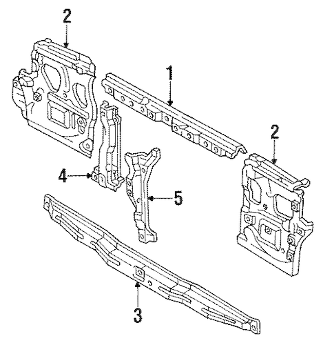 Genuine OEM RADIATOR SUPPORT Parts for 1994 Toyota Land