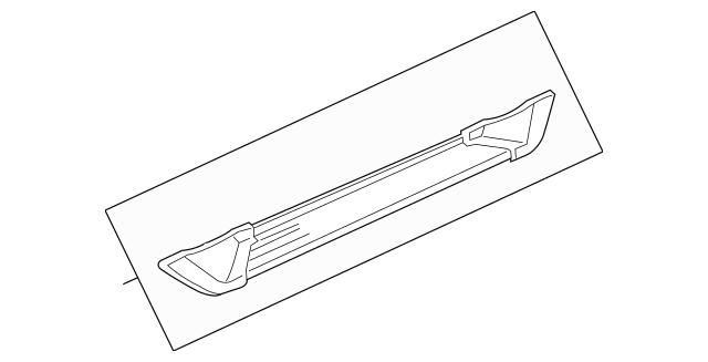 Original Step Assembly, L Side (Black) for 2004 Acura MDX
