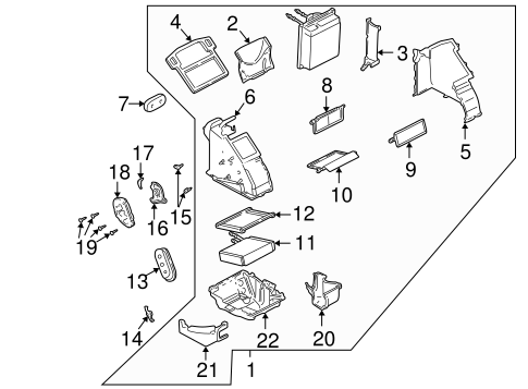 Evaporator & Heater Components for 2007 Ford Focus