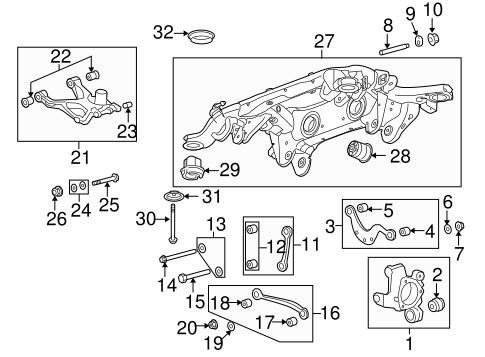 OEM 2009 Buick Enclave Rear Suspension Parts